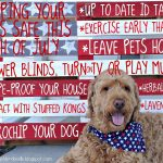 pallet board art with dog for fourth of july safety tips